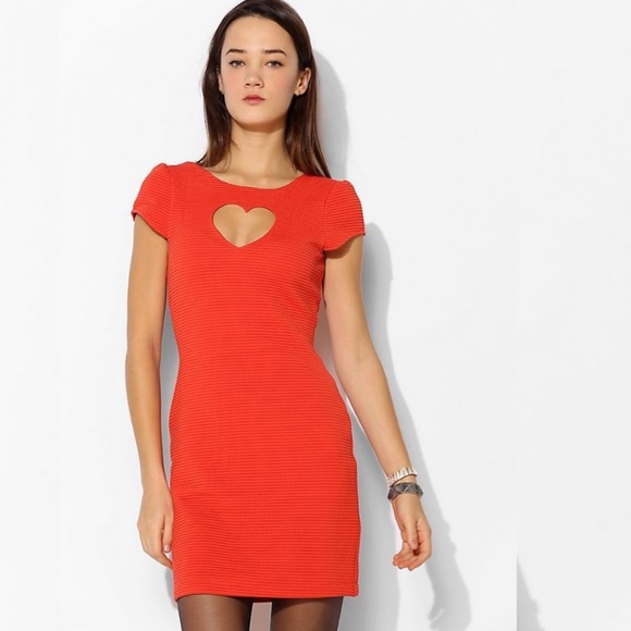 Urban Outfitters Dresses & Skirts - UO Cooperative Heart Cutout Textured Knit Dress